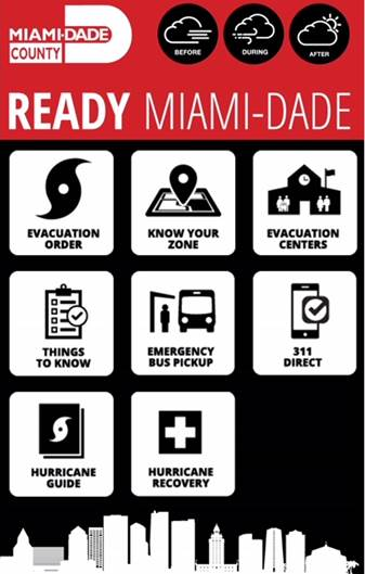 Ready Miami-Dade Hurricane App Screen