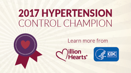 2017 Million Hearts Hypertension Control Challenge Champion Badge
